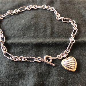 David Yurman heart necklace